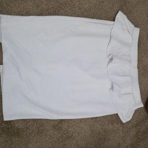 White skirt XOXO